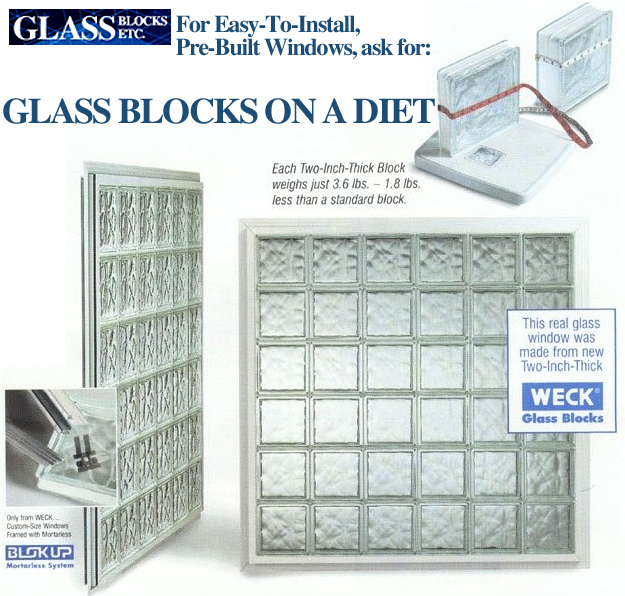 Glass Blocks - Two-Inch Thick Glass Blocks