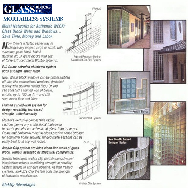 Glass Block Mortarless System