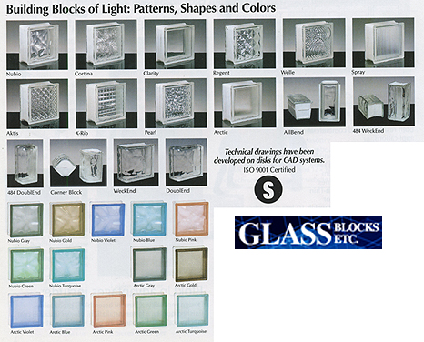 Glass Blocks Etc Glass Block Styles Glass Block Patterns And More